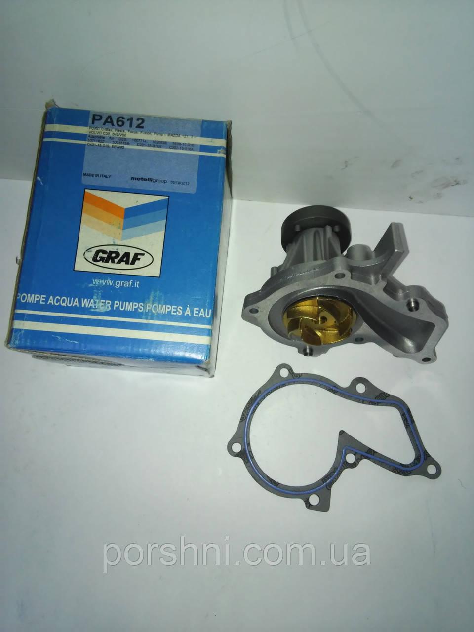 Водяной насос Ford  Focus 98 --  Fiesta 1,25 - 1.4 - 1.6  ЗЭТЭК  96 -- 2001 --  GRAF PA612