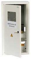 Щит ШМР-1ф-8А-В распределительный металлический для 1ф. индукционного счетчика и 8 авт. выключателей врезной