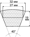 Ремень приводной D-3475