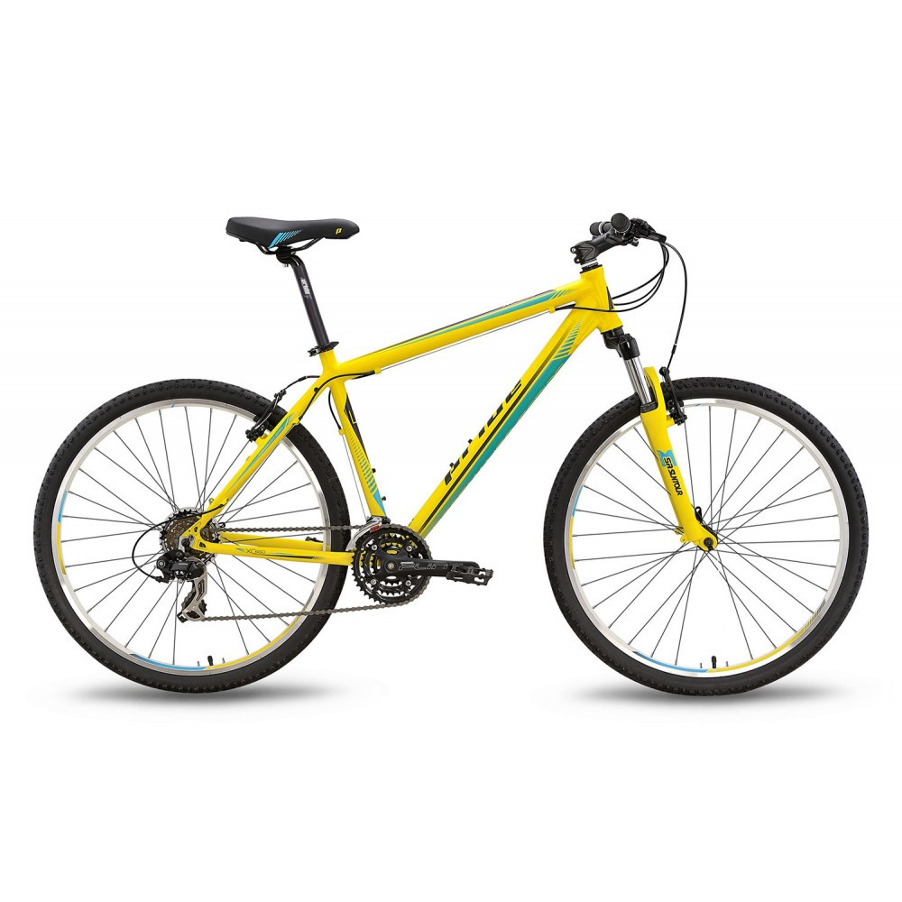 "Велосипед 27,5"" Pride XC-650 V рама - 17"" желто-синий матовый 2016"