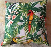 Подушка антистрессовая «Тропический рай» 35x35см (хлопок)