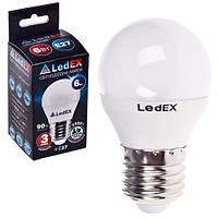 Лампа светодиодная 220V E27 6W шарик 540Lm 4000K 160? LEDEX (чип Epistar) Тайвань