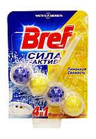 Чистящее средство для унитаза Bref Сила-Актив 4 в 1 Лимонная Свежесть - 50 г.