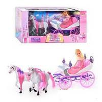 Карета с лошадьми и куклой