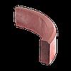 Поребрик радиусный тротуарный, d=1000, h=150 (1/4 круга), цвет Красный