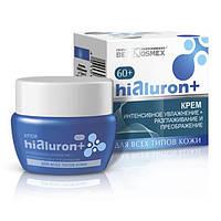 Белкосмекс Hialuron+ Крем интенсивное увлажнение, разглаживание и преображение для всех типов кожи 60+, 48 г (4810090007126)