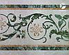 Пол мраморный с элементами мозаики