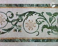 Підлога мармурова з елементами мозаїки