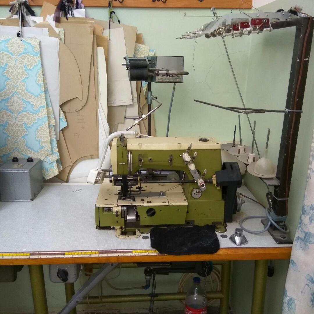 Швейная машина автомат Remoldi для пришива резинок лент силикона кружав кантов беек и окантовлк на 4 позиции