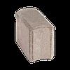 Поребрик стреловидный, размер 270х120х200, цвет Желтый