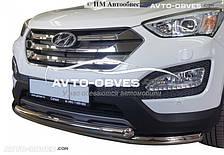 Защита переднего бампера Hyundai Santa Fe 2013-2016