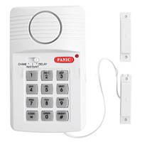 Простая сигнализация для дома 539/353: 3 режима, 110 дБ, смена кода доступа, питание 3хАА батарейки