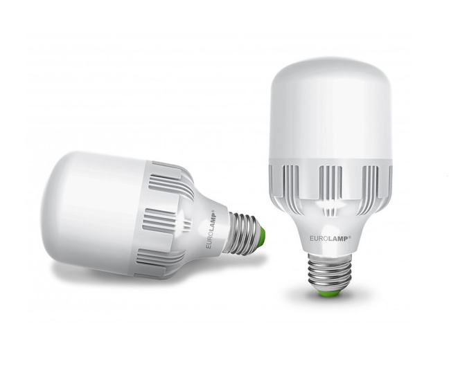 Лампа светодиодная 40W E40 6500K 4000 Lm EUROLAMP мощная промышленная (LED-HP-40406)