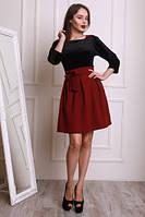 Модное женское платье  из бархата и жаккарда (44-48) , доставка по Украине