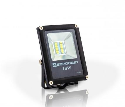 Светодиодный LED прожектор 10 Вт 6400К 800 Lm Евросвет