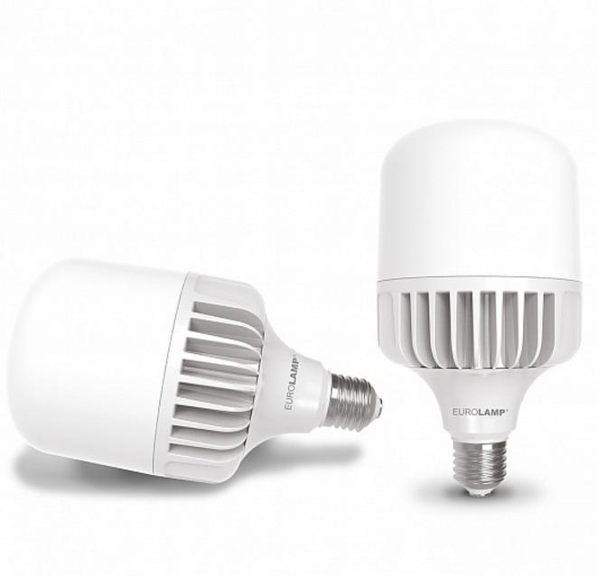 Лампа светодиодная LED 50W E40 6500K 5200 Lm EUROLAMP мощная промышленная (LED-HP-50406)