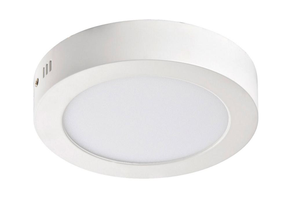 """Светодиодный LED светильник 12W """"круг"""" 6400К d=170мм 840Lm накладной Евросвет"""