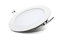 """Светодиодная LED панель 9 Вт """"Круг"""" 6400К d=150mm 630 Lm Евросвет, фото 1"""