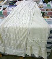 Покрывало/плед (искусственный мех) 200*230 Норка (кремовый) 2,6кг