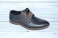 Мужские туфли кожаные, черный глянец