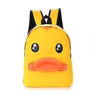 Желтый прикольный рюкзак Уточка
