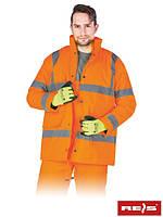 Зимняя утепленная куртка со светоотражающими полосами для дорожников K-VIS P