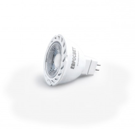 Лампа светодиодная MR16 6W GU5.3 4200К 220V 320 Lm EVRO