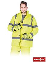 Зимняя утепленная куртка сигнальная для дорожников K-VIS Y