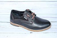 Мужские туфли кожаные черные Б29