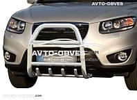 Защита переднего бампера Hyundai Santa Fe 2006-2012 (п.к. RR04)