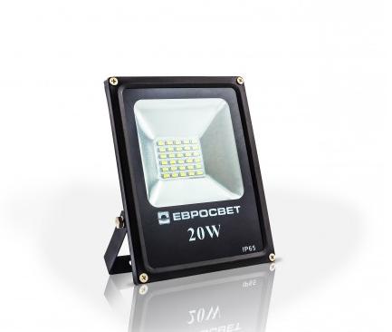 Светодиодный LED прожектор 20 Вт 6400К 1100 Lm Евросвет