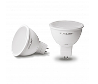 Лампа светодиодная LED MR16 5W GU5.3 4000K dimmable диммируемая EUROLAMP