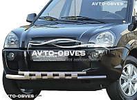 Двойной ус с грилем для Hyundai Tucson 2004-2015. Эксклюзив