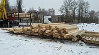 Сухой оцилиндрованный брус 240 карпатская смерека в Киеве