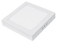 """Светодиодный LED светильник 18W """"квадрат"""" 6400К 225х225мм 1260Lm накладной Евросвет"""