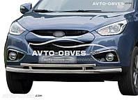 Двойная защита переднего бампера для Hyundai ix35 2010-2016