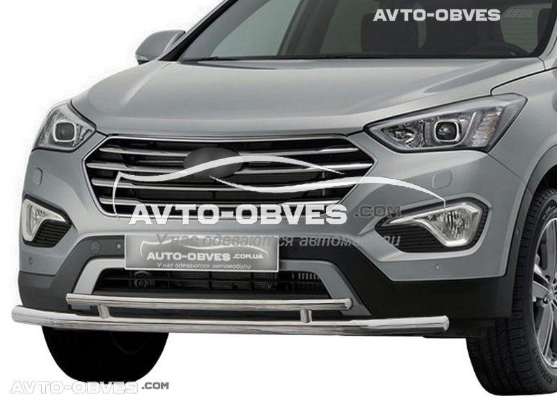 Защита переднего бампера для Hyundai Santa Fe 2013-2016