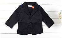 Пиджак детский на мальчика /чёрный / хлопок/ рост 90 см (1,5-2 года)/ 116см (5-6 лет)
