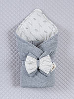 """Конверт-одеяло для новорожденных """"Маленькие стеляжки"""" серый"""
