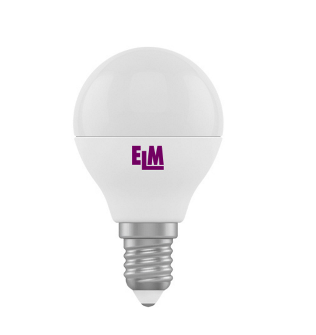 Лампа светодиодная D45 6W Е14 4000К 500 Lm ELM