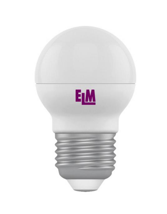 Лампа светодиодная D45 4W Е27 4000К 340 Lm ELM