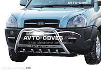 Защитный кенгурятник Hyundai Tucson с логотипом, Ø 60 мм