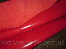 Кожа подкладочная воскованная свинная 0,5 - 0,6 мм красный