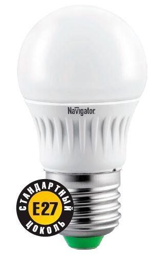 Лампа светодиодная NLL G45 7W 4000K 230В E27 NAVIGATOR