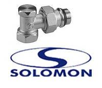 Кран радиаторный SOLOMON низ 1/2 угловой
