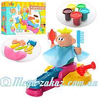 Набор для лепки Парикмахерская 0700 (тесто для лепки): 5 цветов, пресс с фигуркой + аксессуары