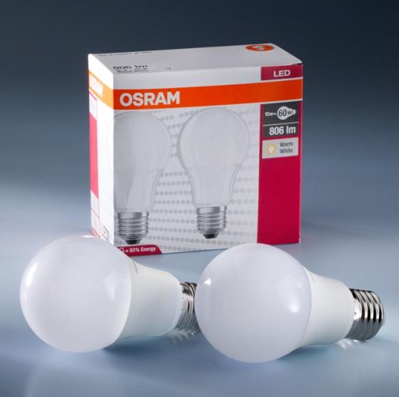 Набор ламп 2х1 LED STAR CLASSIC A60 8W 4000K E27 806 Lm OSRAM
