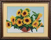 Набор для вышивания бисером Солнечные цветы