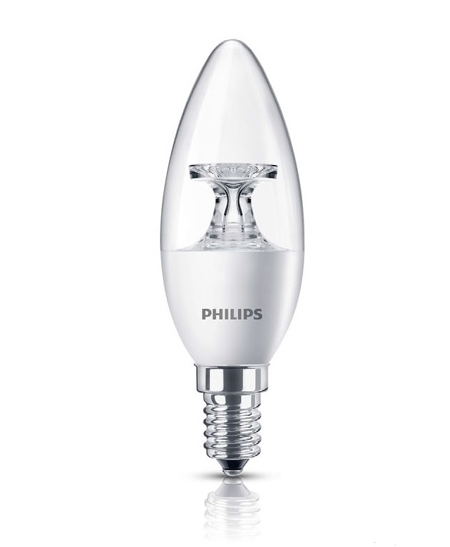 Лампа светодиодная CorePro LEDcandle ND 5,5 - 40W E14 4000К 470 Lm B35 (свеча) CL PHILIPS