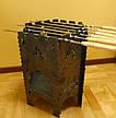 """Раскладной мангал-печь 3в1 """"Гюльчатай"""",2мм + комплект шампуров 6шт., с чехлом, фото 4"""